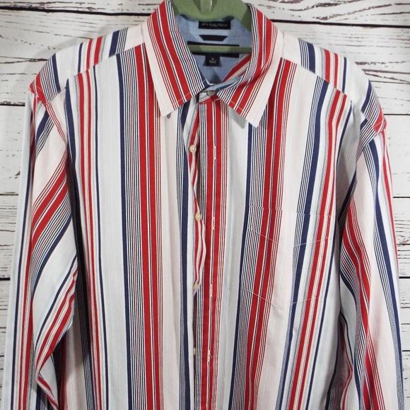 2892c19a Tommy Hilfiger Shirts | 80s 2 Ply Fabric Button Up Shirt M | Poshmark